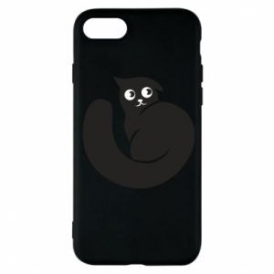 Phone case for iPhone 7 Very black cat is watching you - PrintSalon