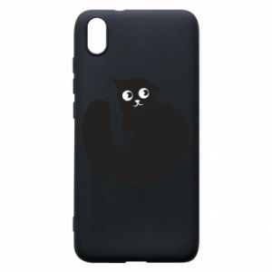 Phone case for Xiaomi Redmi 7A Very black cat is watching you - PrintSalon