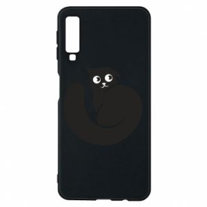 Phone case for Samsung A7 2018 Very black cat is watching you - PrintSalon