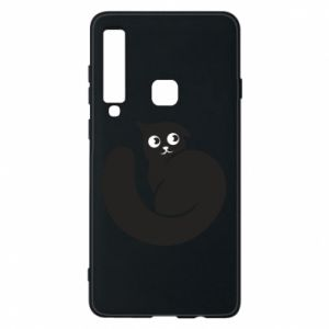 Phone case for Samsung A9 2018 Very black cat is watching you - PrintSalon