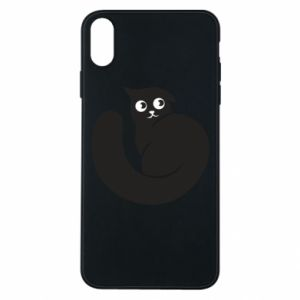 Phone case for iPhone Xs Max Very black cat is watching you - PrintSalon