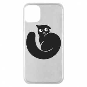 Phone case for iPhone 11 Pro Very black cat is watching you - PrintSalon
