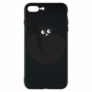 Phone case for iPhone 7 Plus Very black cat is watching you - PrintSalon