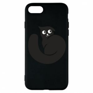 Phone case for iPhone 8 Very black cat is watching you - PrintSalon