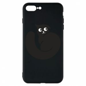 Phone case for iPhone 8 Plus Very black cat is watching you - PrintSalon