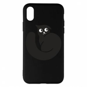 Phone case for iPhone X/Xs Very black cat is watching you - PrintSalon