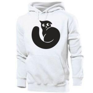 Men's hoodie Very black cat is watching you - PrintSalon