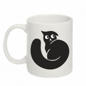 Mug 330ml Very black cat is watching you
