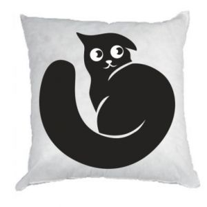 Pillow Very black cat is watching you - PrintSalon