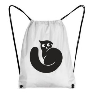 Backpack-bag Very black cat is watching you - PrintSalon