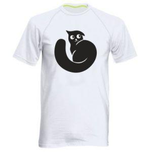 Men's sports t-shirt Very black cat is watching you - PrintSalon