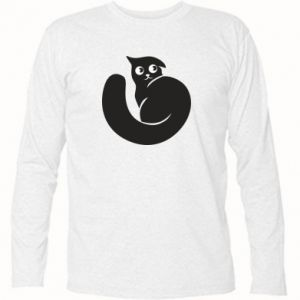 Long Sleeve T-shirt Very black cat is watching you