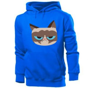 Men's hoodie Very dissatisfied cat - PrintSalon