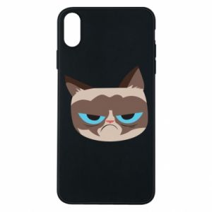Phone case for iPhone Xs Max Very dissatisfied cat - PrintSalon