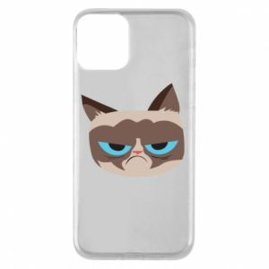 Phone case for iPhone 11 Very dissatisfied cat - PrintSalon