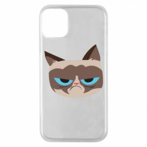 Phone case for iPhone 11 Pro Very dissatisfied cat - PrintSalon