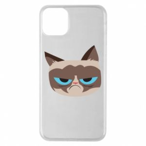 Phone case for iPhone 11 Pro Max Very dissatisfied cat - PrintSalon