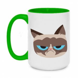 Kubek dwukolorowy 450ml Very dissatisfied cat