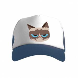 Czapka trucker dziecięca Very dissatisfied cat