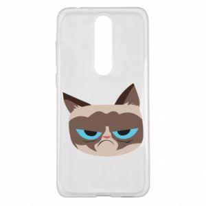 Etui na Nokia 5.1 Plus Very dissatisfied cat