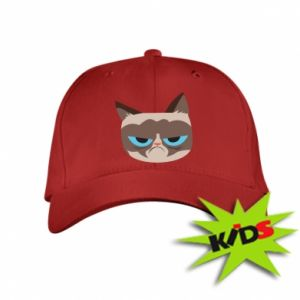 Kids' cap Very dissatisfied cat - PrintSalon