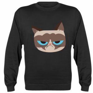 Sweatshirt Very dissatisfied cat - PrintSalon