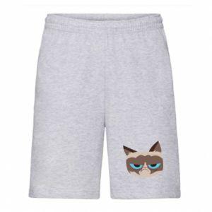 Men's shorts Very dissatisfied cat - PrintSalon