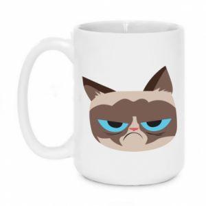 Mug 450ml Very dissatisfied cat - PrintSalon