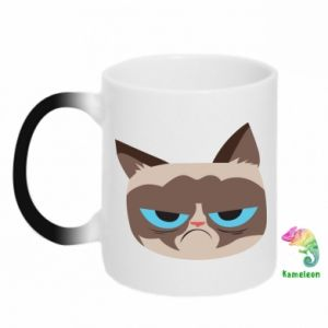 Chameleon mugs Very dissatisfied cat