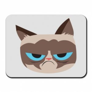 Mouse pad Very dissatisfied cat - PrintSalon