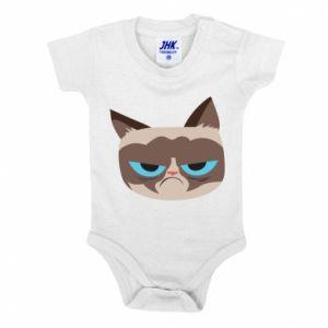 Baby bodysuit Very dissatisfied cat - PrintSalon