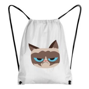 Backpack-bag Very dissatisfied cat - PrintSalon