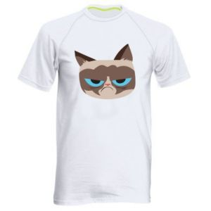 Men's sports t-shirt Very dissatisfied cat - PrintSalon