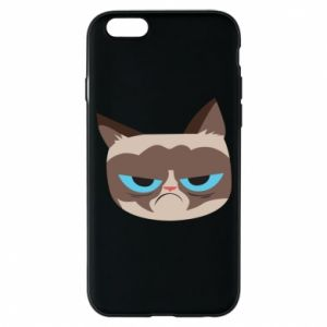 Phone case for iPhone 6/6S Very dissatisfied cat - PrintSalon