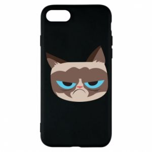 Phone case for iPhone 7 Very dissatisfied cat - PrintSalon