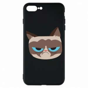 Phone case for iPhone 8 Plus Very dissatisfied cat - PrintSalon