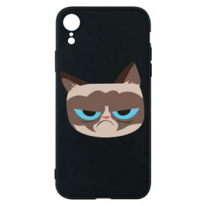 Phone case for iPhone XR Very dissatisfied cat - PrintSalon