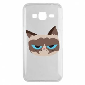 Phone case for Samsung J3 2016 Very dissatisfied cat - PrintSalon