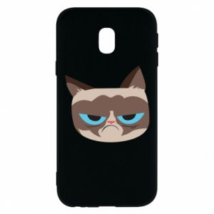 Phone case for Samsung J3 2017 Very dissatisfied cat - PrintSalon