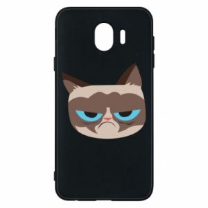 Phone case for Samsung J4 Very dissatisfied cat - PrintSalon