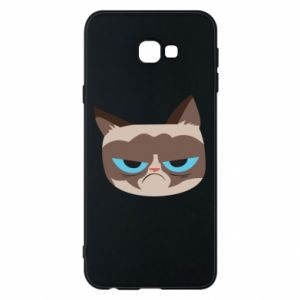 Phone case for Samsung J4 Plus 2018 Very dissatisfied cat - PrintSalon