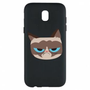 Phone case for Samsung J5 2017 Very dissatisfied cat - PrintSalon