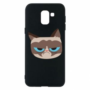 Phone case for Samsung J6 Very dissatisfied cat - PrintSalon