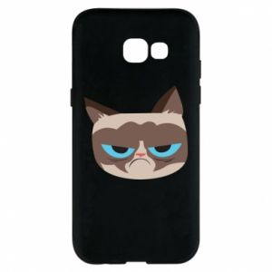 Phone case for Samsung A5 2017 Very dissatisfied cat - PrintSalon