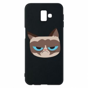 Phone case for Samsung J6 Plus 2018 Very dissatisfied cat - PrintSalon