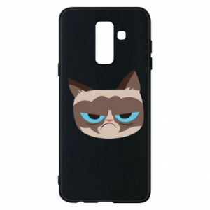 Phone case for Samsung A6+ 2018 Very dissatisfied cat - PrintSalon