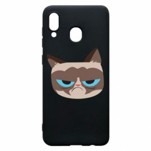 Phone case for Samsung A20 Very dissatisfied cat - PrintSalon