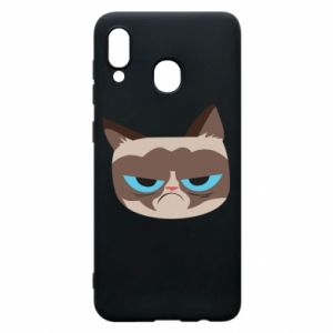 Phone case for Samsung A30 Very dissatisfied cat - PrintSalon