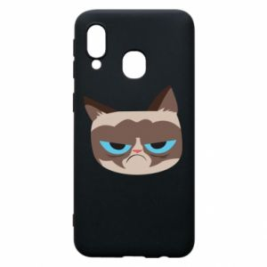 Phone case for Samsung A40 Very dissatisfied cat - PrintSalon