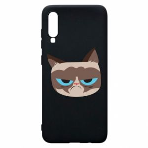 Phone case for Samsung A70 Very dissatisfied cat - PrintSalon